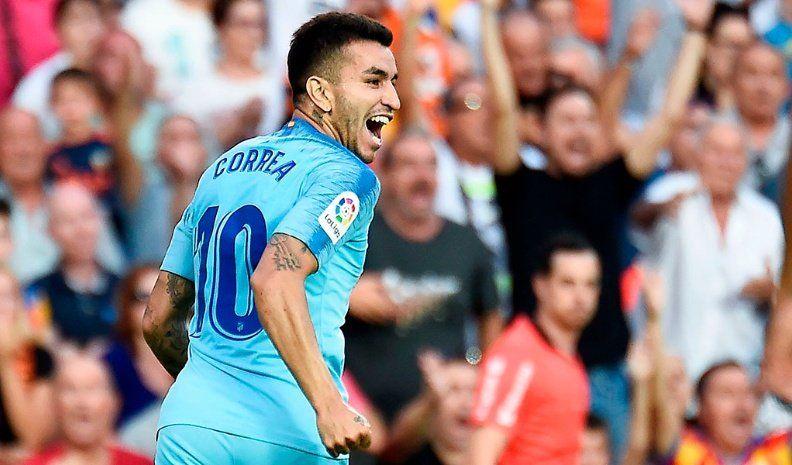 Gol de Correa en el debut del Atlético