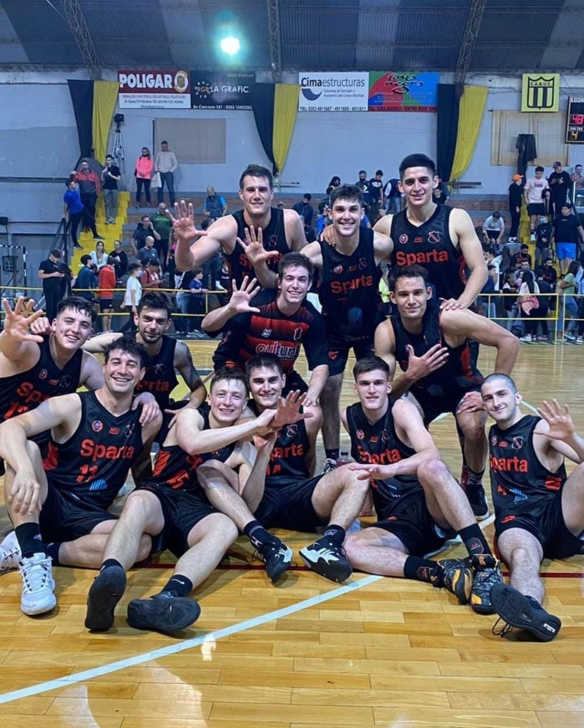 Clásico y clasificación. Sparta venció al aurinegro y pasó a la próxima ronda del torneo. Foto: Sparta.