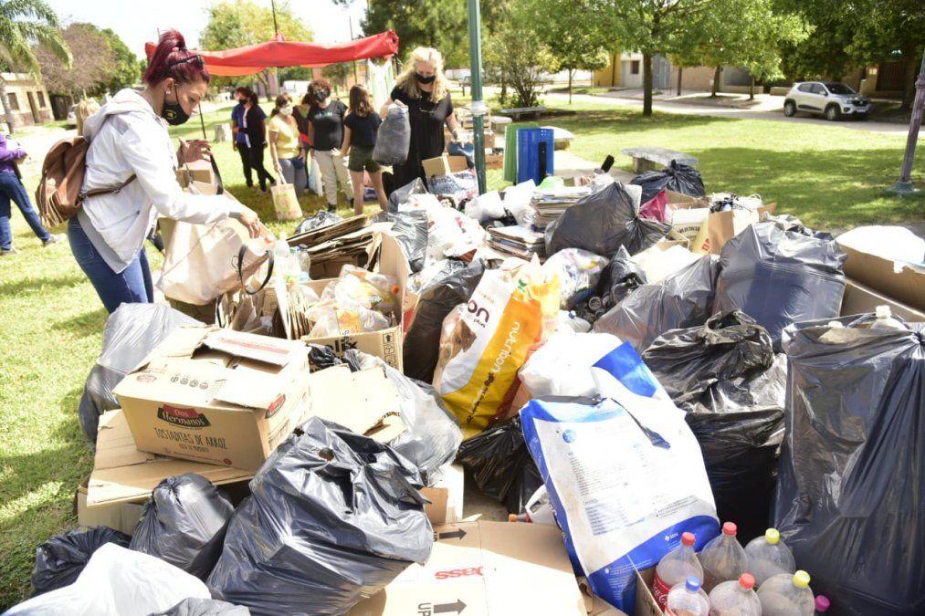 El Festival de Canje Saludable recolectó más de 1700 kilos de residuos reciclables