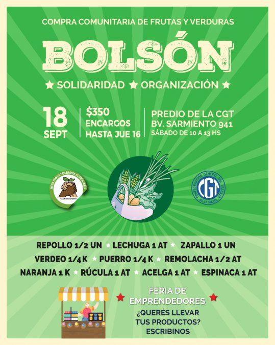 El sábado se entregará un nuevo bolsón solidario