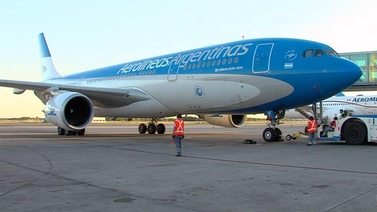 Aerolíneas Argentinas envió un nuevo vuelo a China