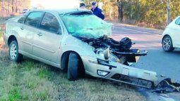 Un muerto en un choque frontal en  la ruta nacional 35