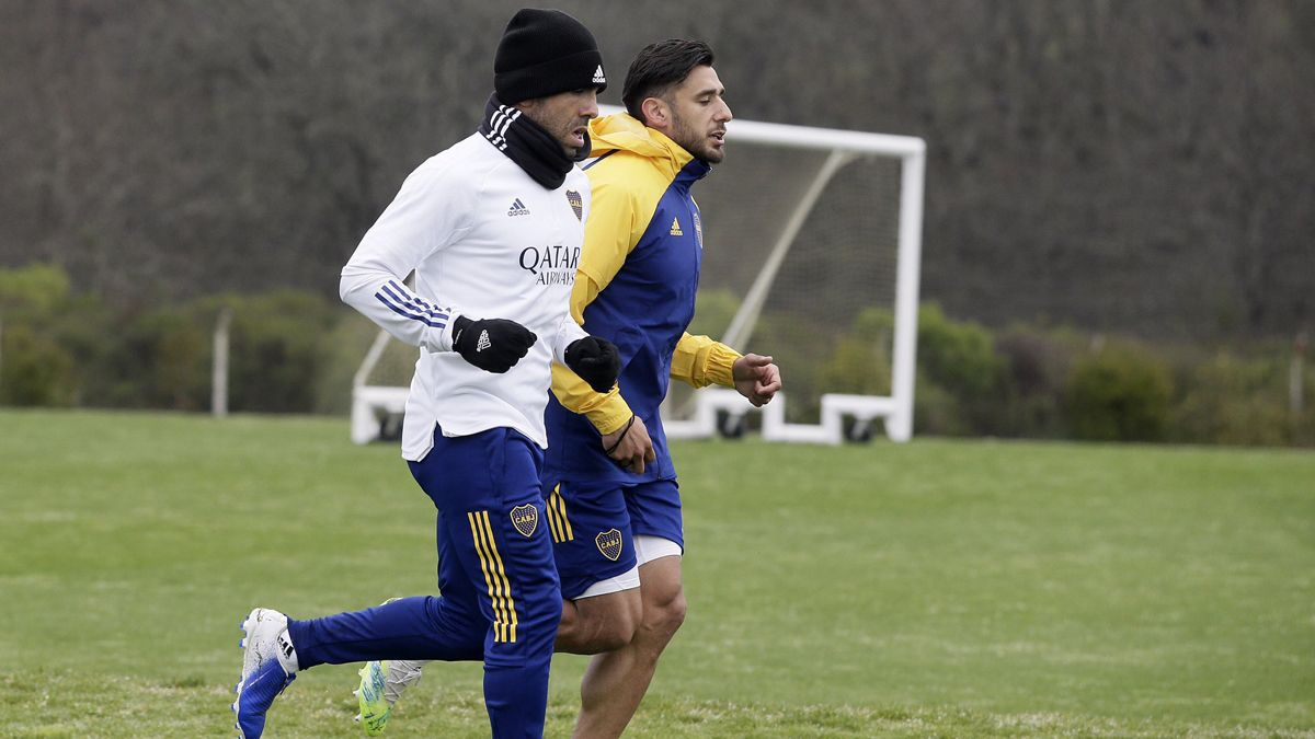 Boca entrenó ayer en el predio de Ezeiza y lo vuelve a hacer hoy. Luego los jugadores no concentran.