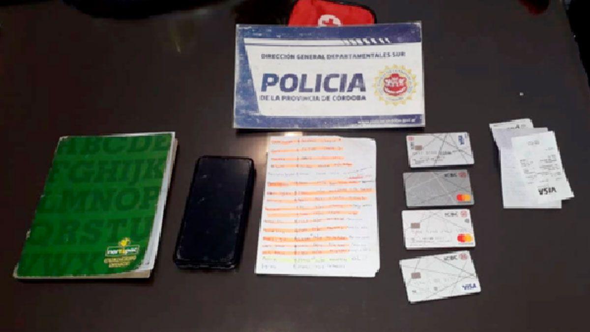 Algunos de los elementos secuestrados en el allanamiento realizado en Las Higueras.