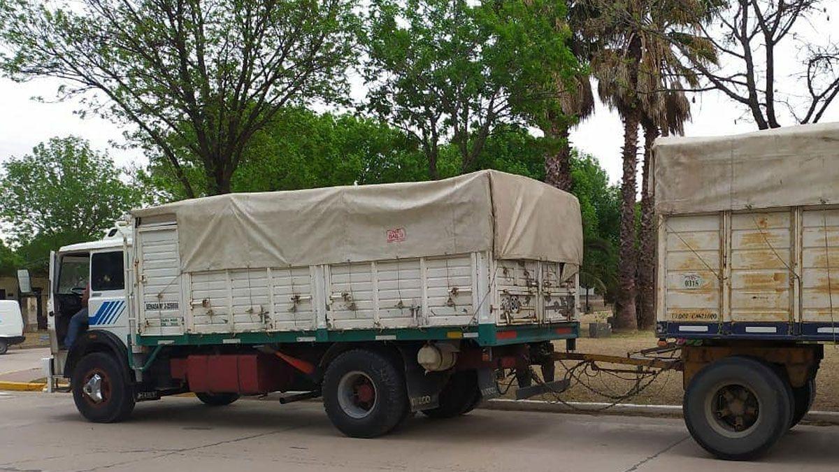 El camión fue detenido en cercanías de Carnerillo