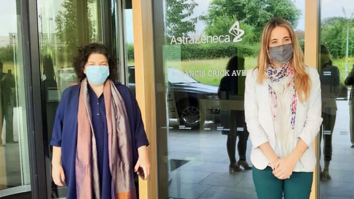El martes intercambiaron experiencias de vacunación y evaluaron alternativas de trabajo conjuntas en materia sanitaria con los funcionarios Nadhim Zahawi y Wendy Morton.