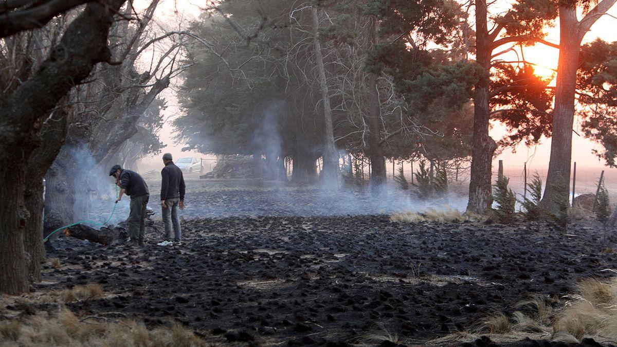 Los incendios asotaron a la provincia en las últimas semanas y de la mano de la sequía y los fuertes vientos se hicieron imparables.