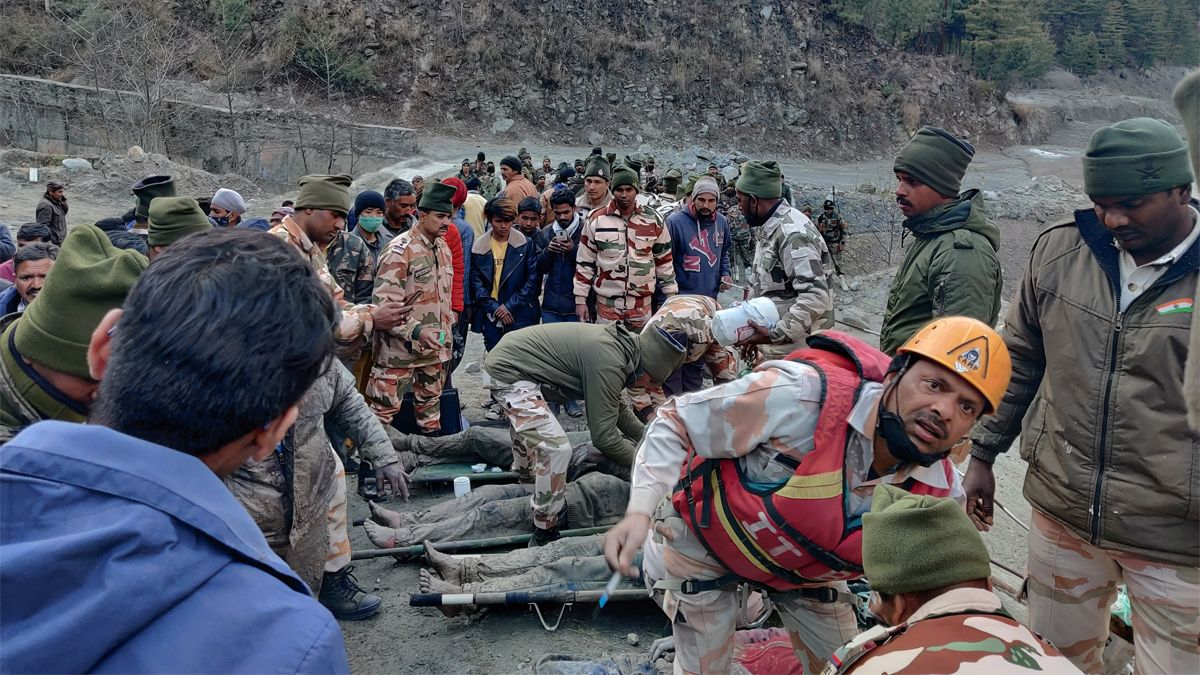 La ruptura de un glaciar en el Himalaya provocó la tragedia.