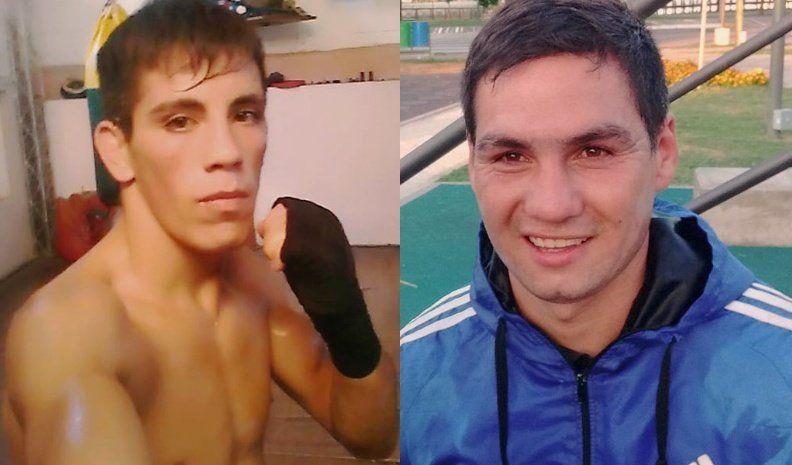 Santiago Prado y Joaquín Avalos, en la velada boxística en Unión Central