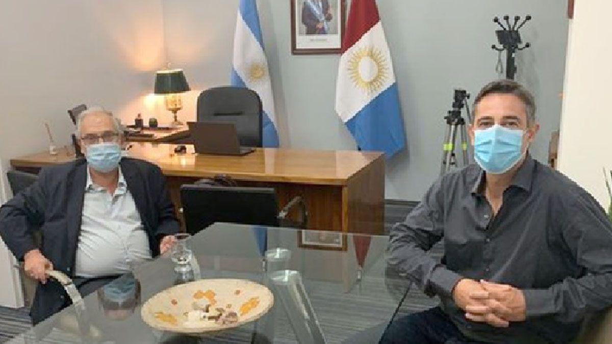 Saliba transmitió las inquietudes del Foro al secretario de Asuntos Municipales.