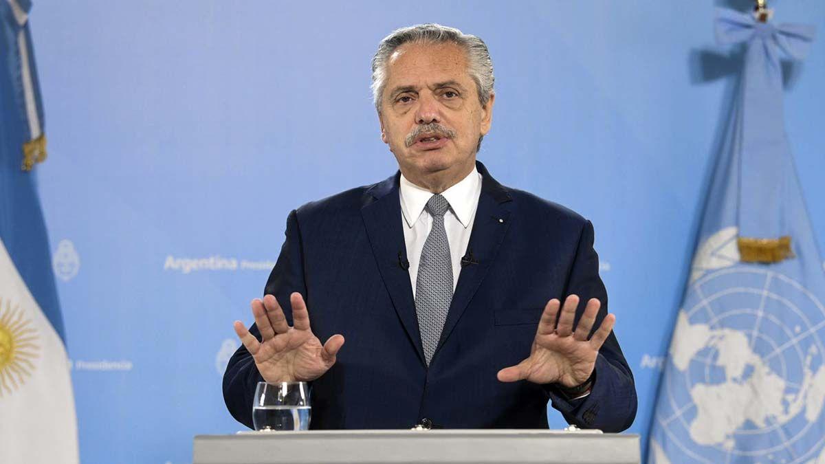 Alberto Fernández pronunció su discurso ante la Asamblea General de la ONU.