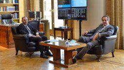 El ministro de economía, Martín Guzmán, se reunió con  el presidente del Banco Central Miguel Pesce, para coordinar las líneas de trabajo, previo a la reunión con el FMI.