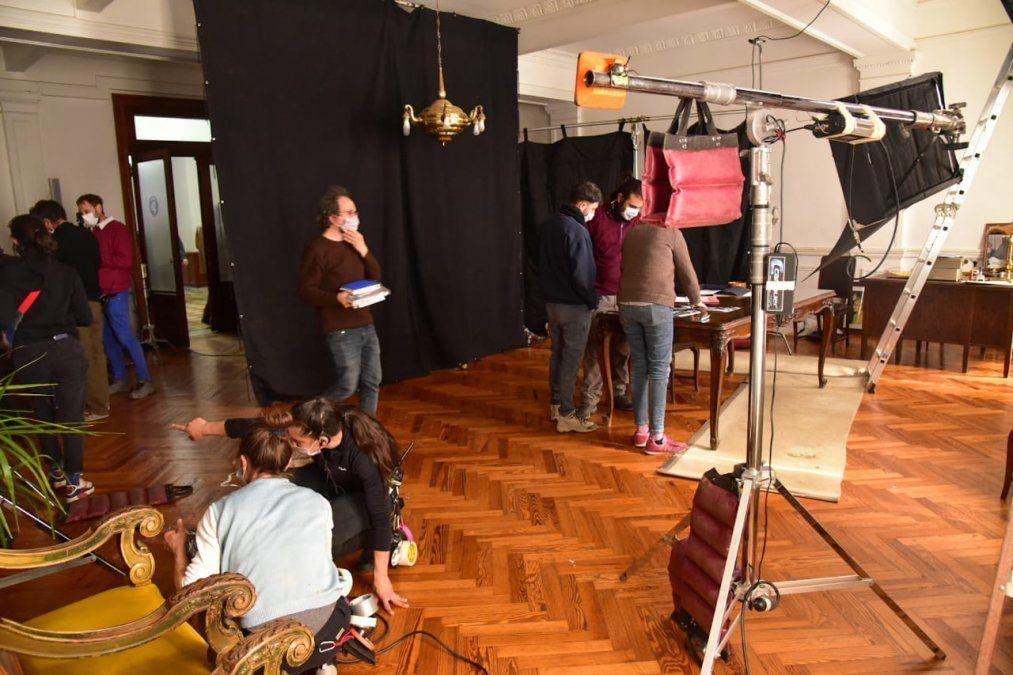 El Salón Blanco recreó el Ministerio de Acción Social en la película El Matadero.