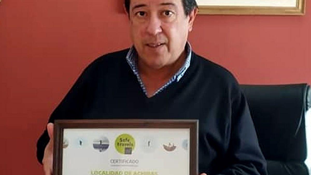 El intendente Gutiérrez resaltó la importancia del reconocimiento para Achiras.