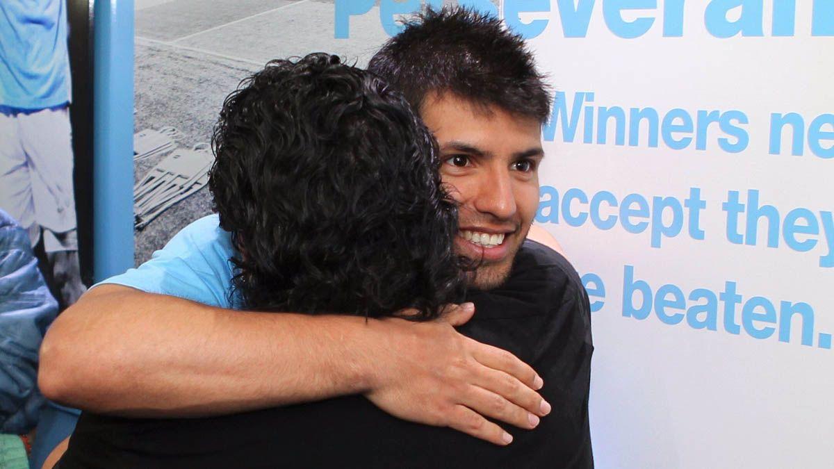 El Kun Agüero dedicó un mensaje tras la muerte de Maradona.