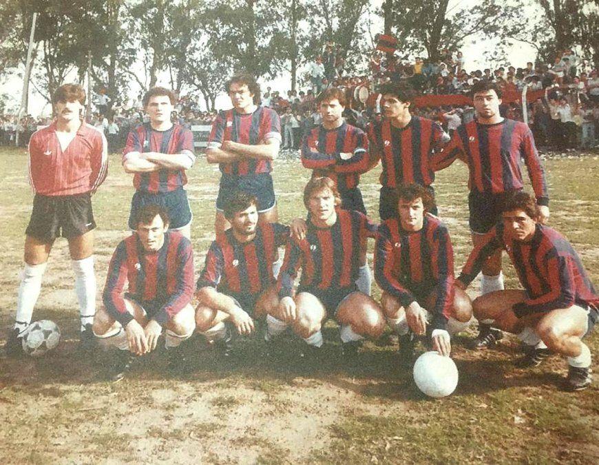 El equipo de San Lorenzo de Las Perdices que representó a la Liga en el torneo Provincial.