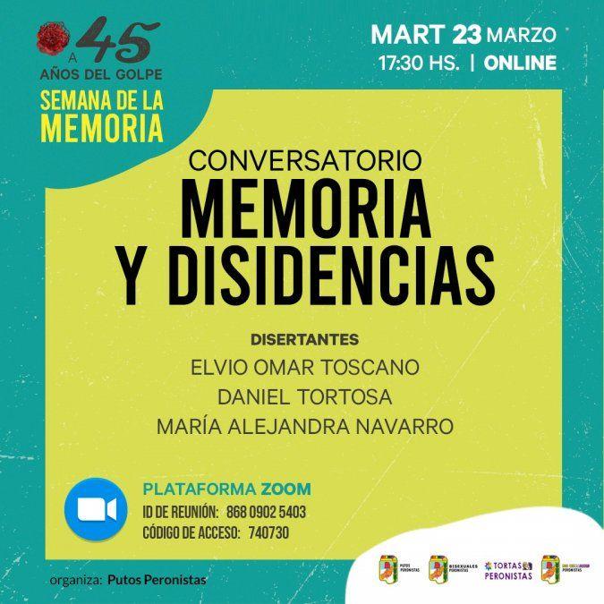 Organizaciones preparan actividades para el 24 de marzo