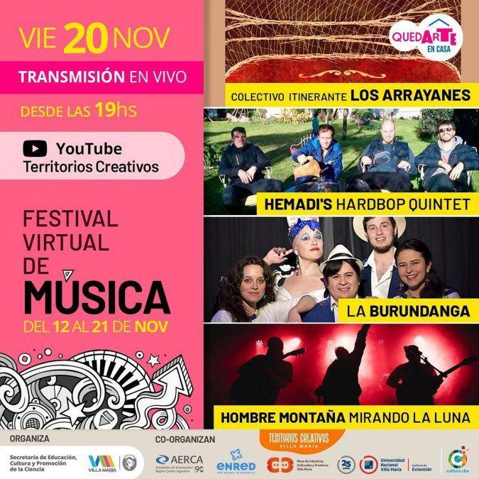 Continúa el Festival Virtual de Música