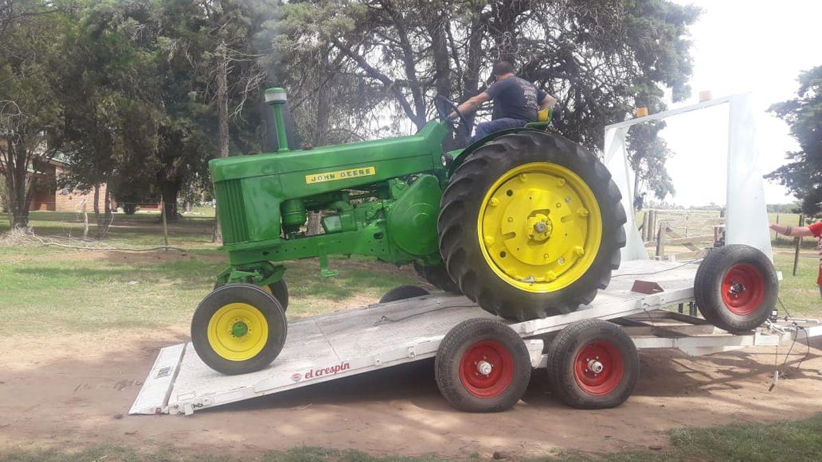 Y se puso a rodar. El tractor quedó impecable.