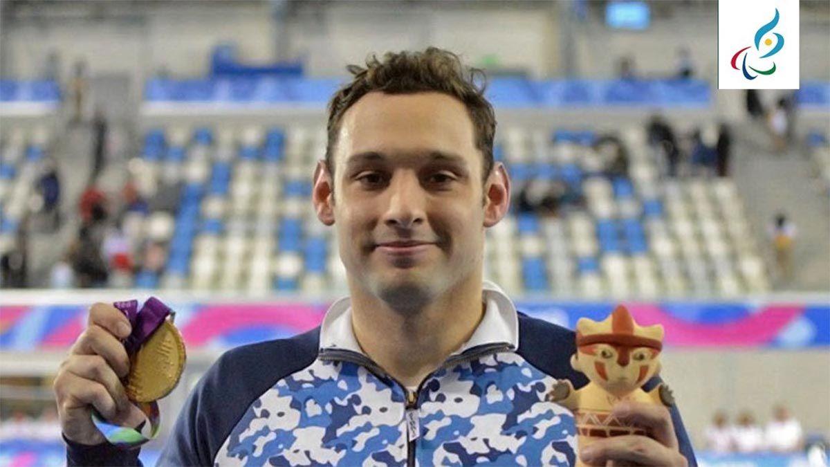 El nadador rosarino obtuvo la medalla de plata en 100m Espalda S7 y suma una tercera premiación a la delegación argentina